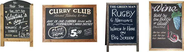 examples of pub chalkboards